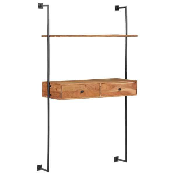 vidaXL Birou de perete, 90 x 40 x 170 cm, lemn masiv de acacia