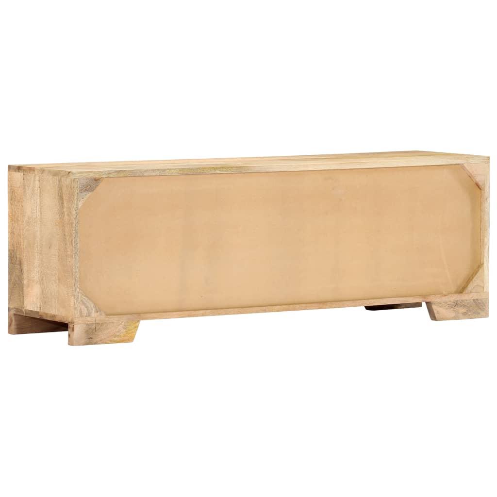 Comodă TV, 120 x 30 x 40 cm, lemn masiv de mango