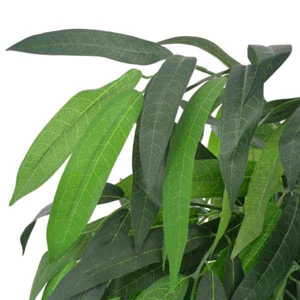 vidaXL Arbore de mango artificial cu ghiveci, 140 cm, verde