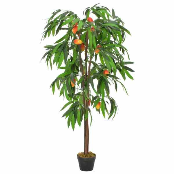 vidaXL Arbore de mango artificial cu ghiveci, 150 cm, verde