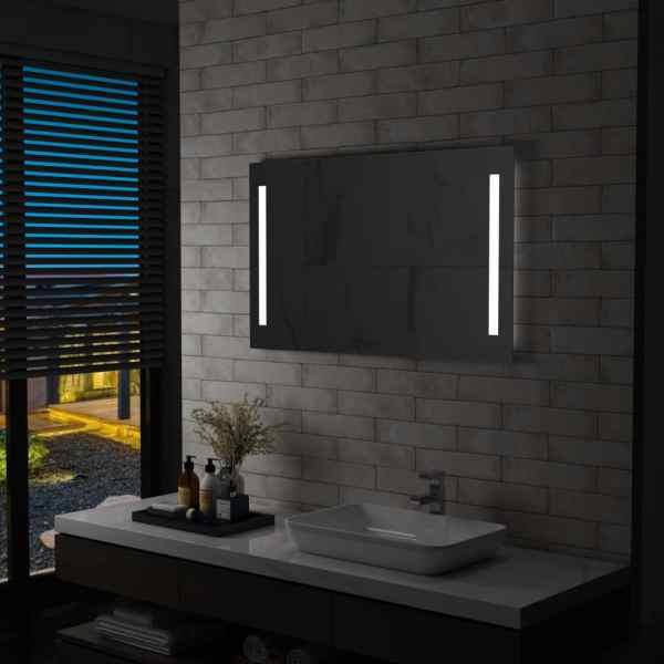 vidaXL Oglindă de perete de baie cu LED, 100 x 60 cm