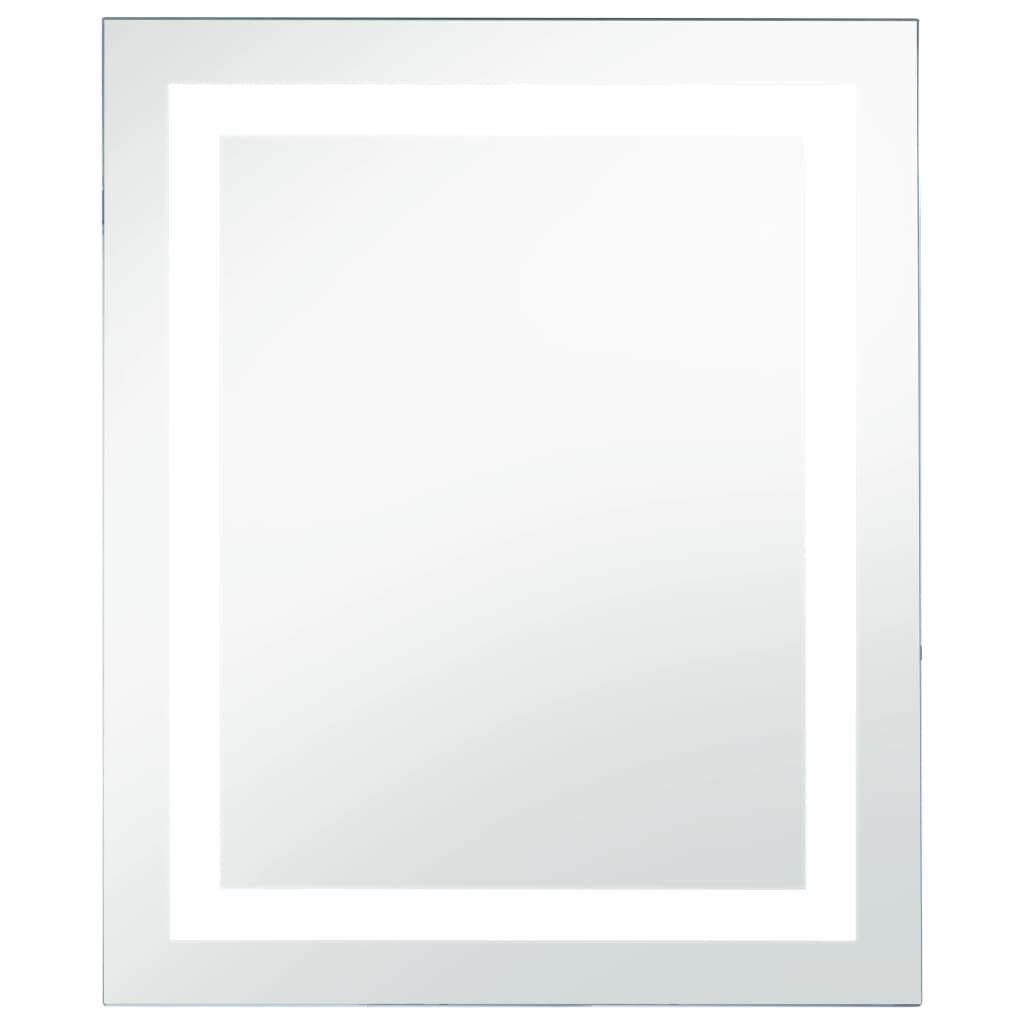 Oglindă cu LED de baie cu senzor tactil, 50 x 60 cm