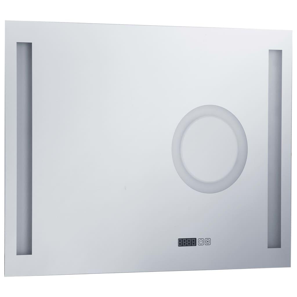 vidaXL Oglindă cu LED de perete de baie cu senzor tactil, 80 x 60 cm