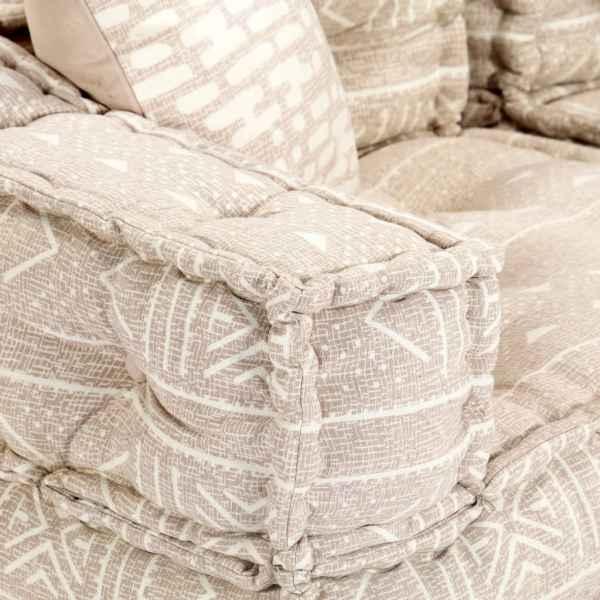 Canapea puf modulară cu 3 locuri, bej, material textil
