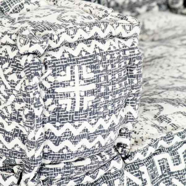 Canapea puf modulară cu 3 locuri, gri deschis, material textil