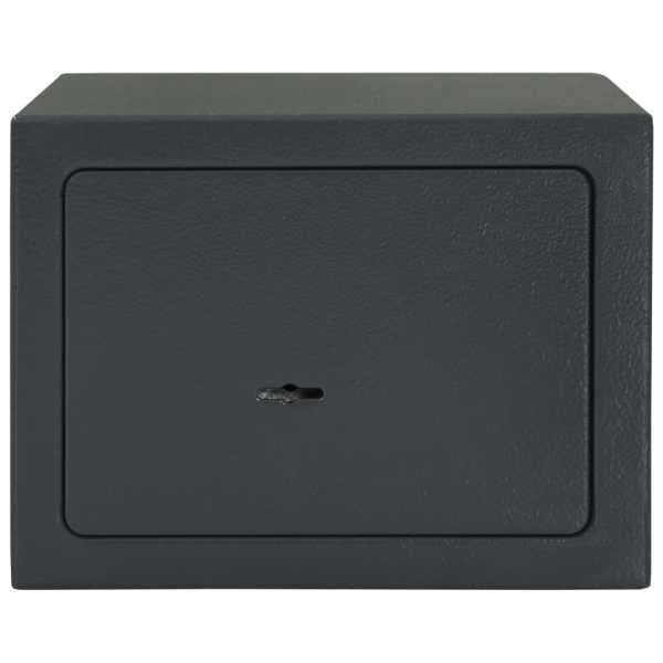 vidaXL Seif mecanic, gri închis, 23 x 17 x 17 cm, oțel