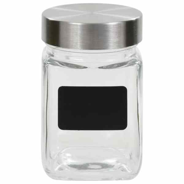 vidaXL Borcane de depozitare cu etichetă, 24 buc., 300 ml