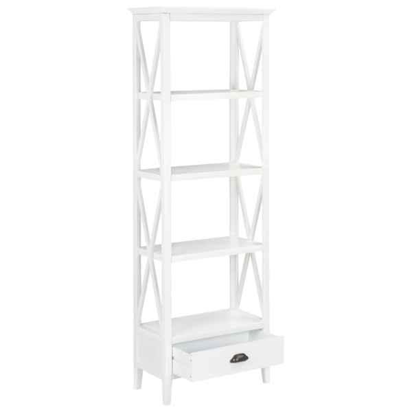 Bibliotecă cu 1 sertar, alb 60x30x170 cm, MDF