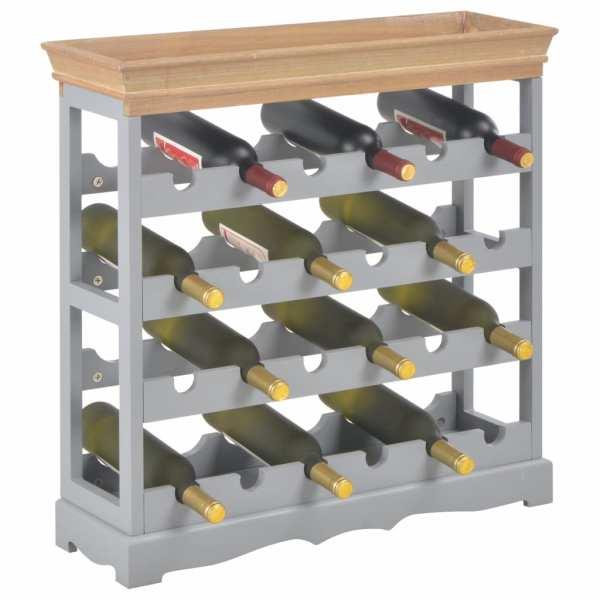 Dulap de vinuri, gri, 70 x 22,5 x 70,5 cm, MDF
