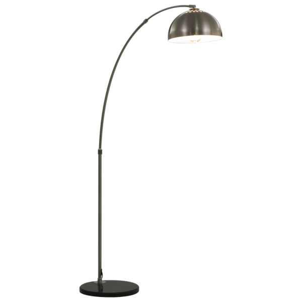 vidaXL Lampă arcuită, argintiu, 170 cm, 60 W, E27