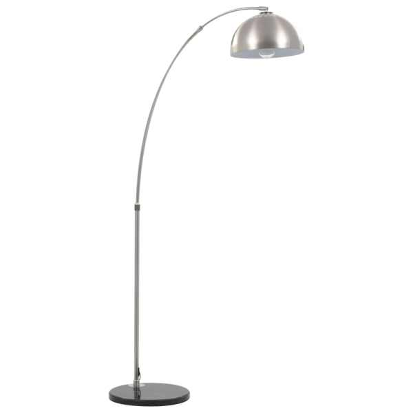 Lampă arcuită, argintiu, 170 cm, 60 W, E27