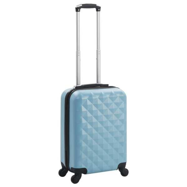 vidaXL Valiză cu carcasă rigidă, albastru, ABS