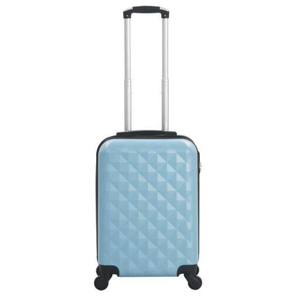Valiză cu carcasă rigidă, albastru, ABS
