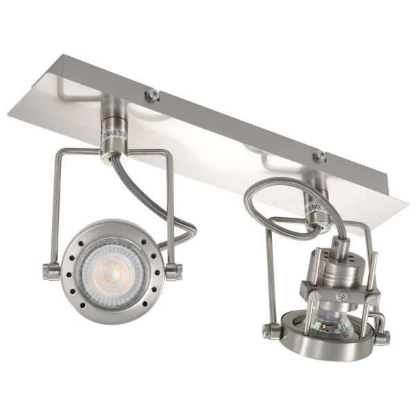 vidaXL Spot luminos cu 2 direcții, argintiu, GU10