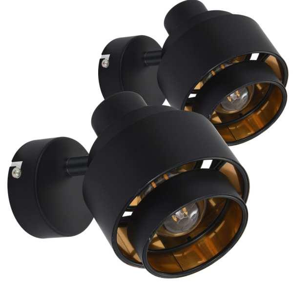 Spoturi luminoase, 2 buc., negru, E14