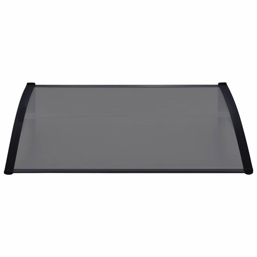 Copertină de ușă, negru, 120 x 80 cm, PC