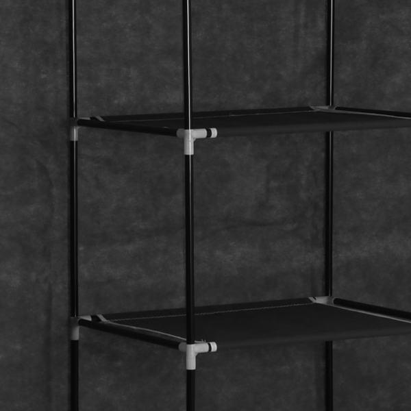 vidaXL Dulap cu bare și compartimente, negru, 150x45x175 cm