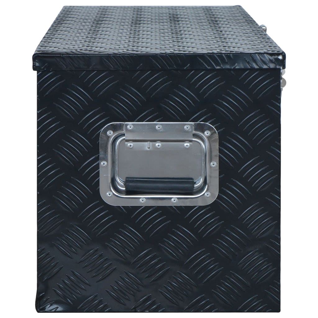 Ladă din aluminiu, negru, 1085 x 370 x 400 mm