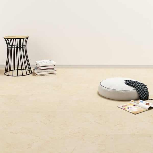 vidaXL Plăci de pardoseală autoadezive, bej, 5,11 m², PVC