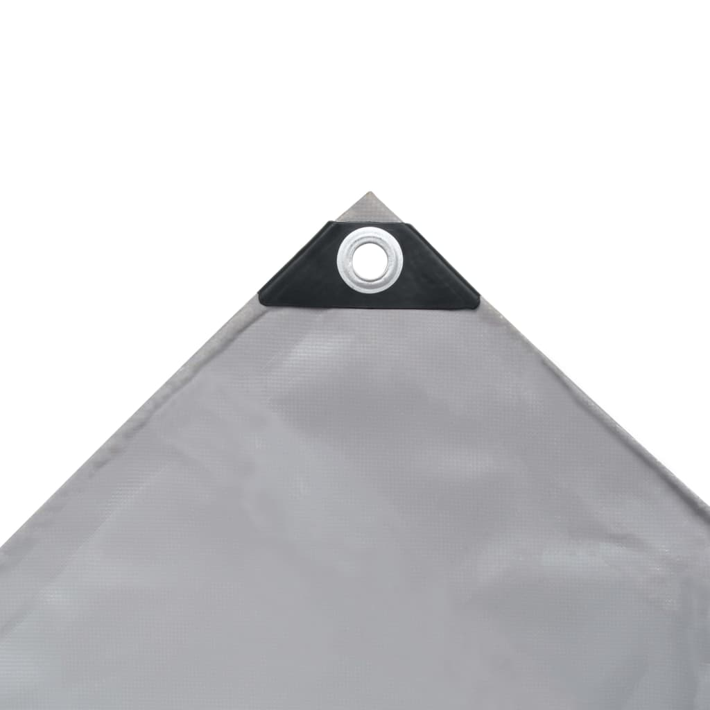 Prelată, gri, 2,5 x 3,5 m, 650 g/m²