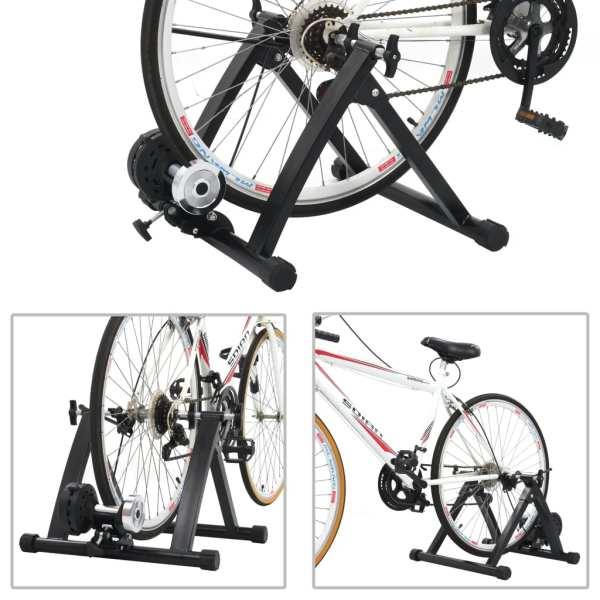 vidaXL Suport de bicicletă pentru antrenament, negru, 26″-28″cm, oțel