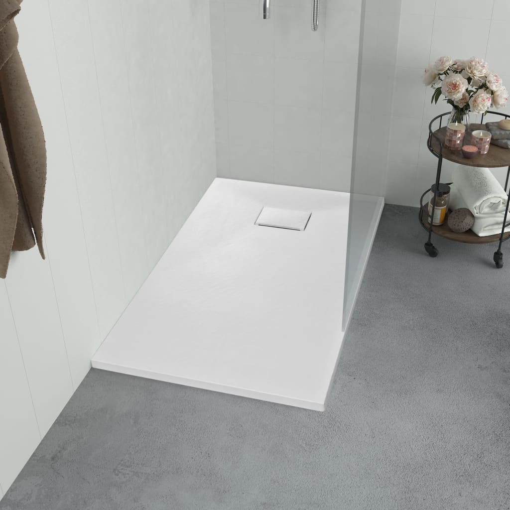 vidaXL Cădiță de duș, alb, 80 x 80 cm, SMC