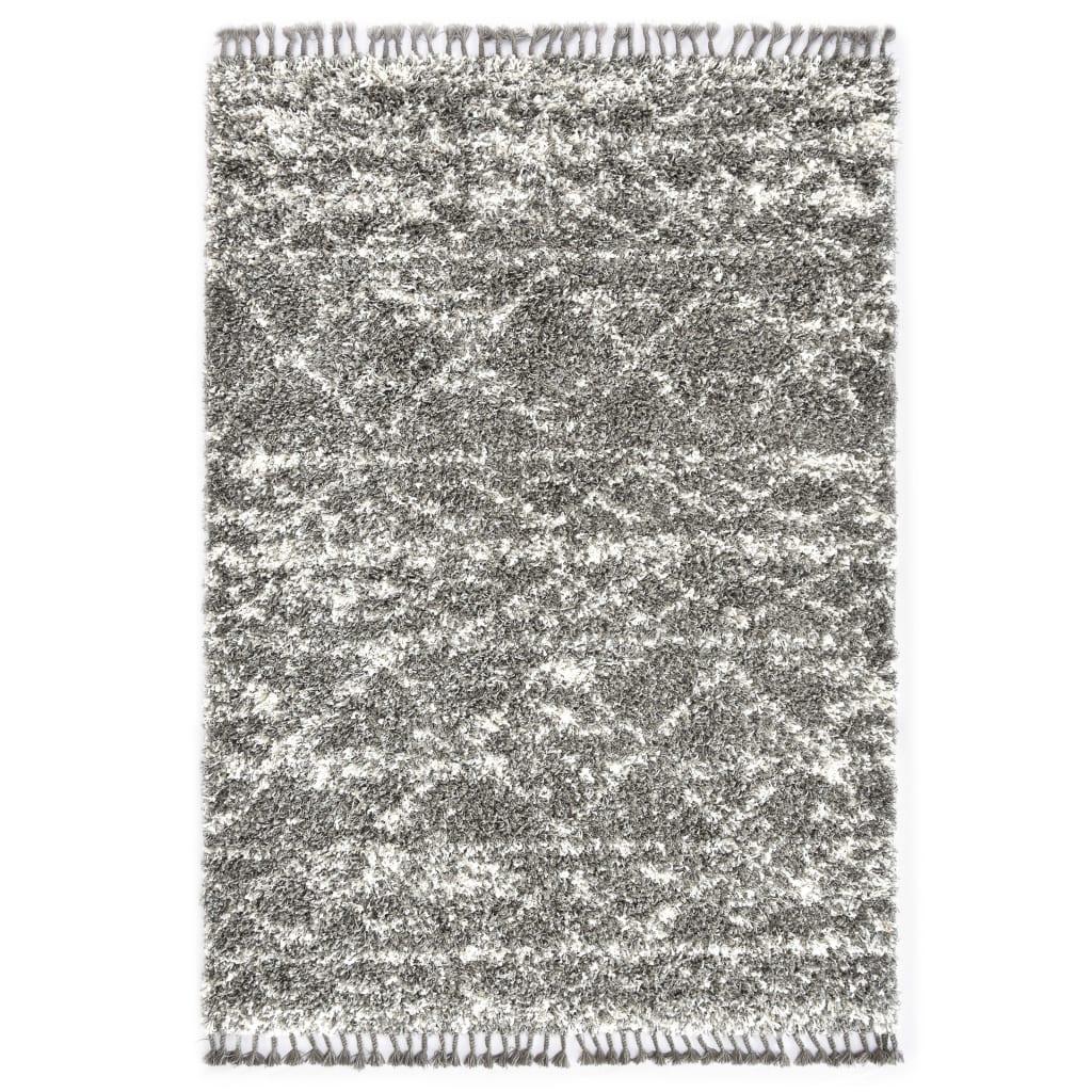 vidaXL Covor berber lățos, gri și bej, 80 x 150 cm, PP