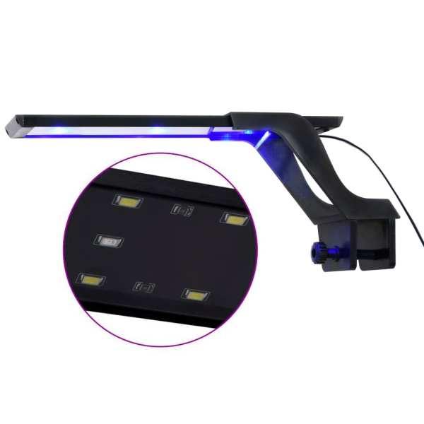 Lampă LED pentru acvariu, cu clemă, albastru/alb, 25-45 cm