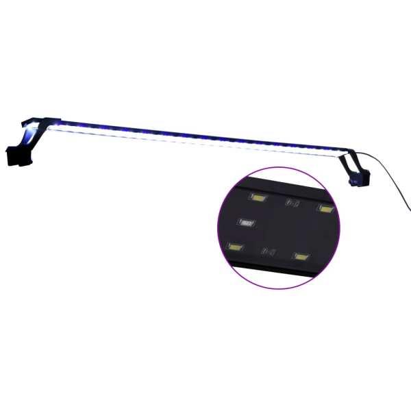 vidaXL Lampă LED pentru acvariu, cu cleme, albastru/alb, 115-130 cm