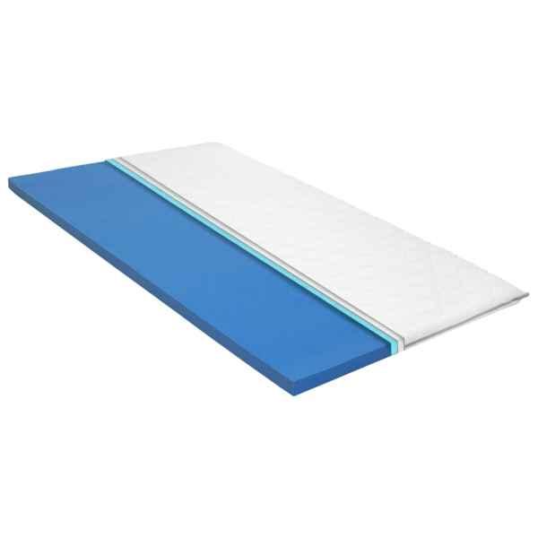 vidaXL Topper de saltea, 120 x 200 cm, spumă cu memorie Visco, 6 cm