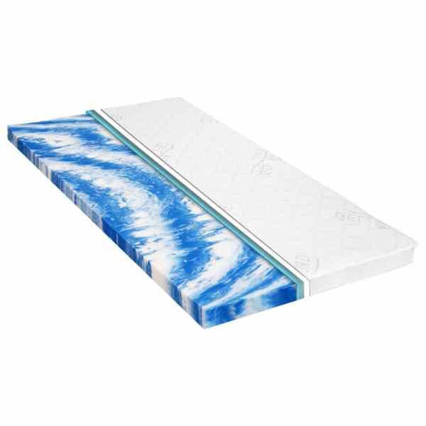 vidaXL Topper saltea, 160 x 200 cm, spumă gel, 7 cm