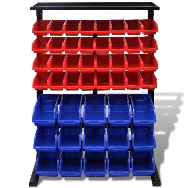 Organizator scule Albastru/Roșu