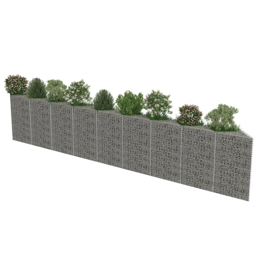 Perete gabion, 630 x 30 x 100 cm, oțel galvanizat