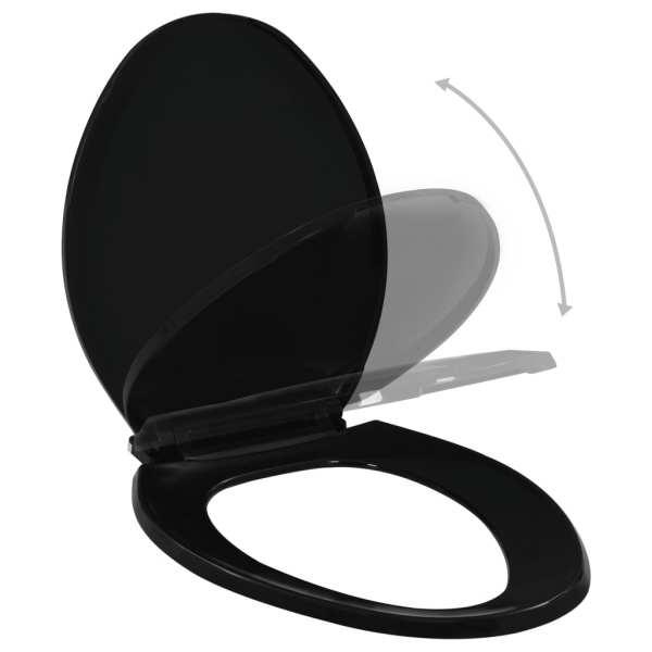 vidaXL Capac WC închidere silențioasă, eliberare rapidă, negru