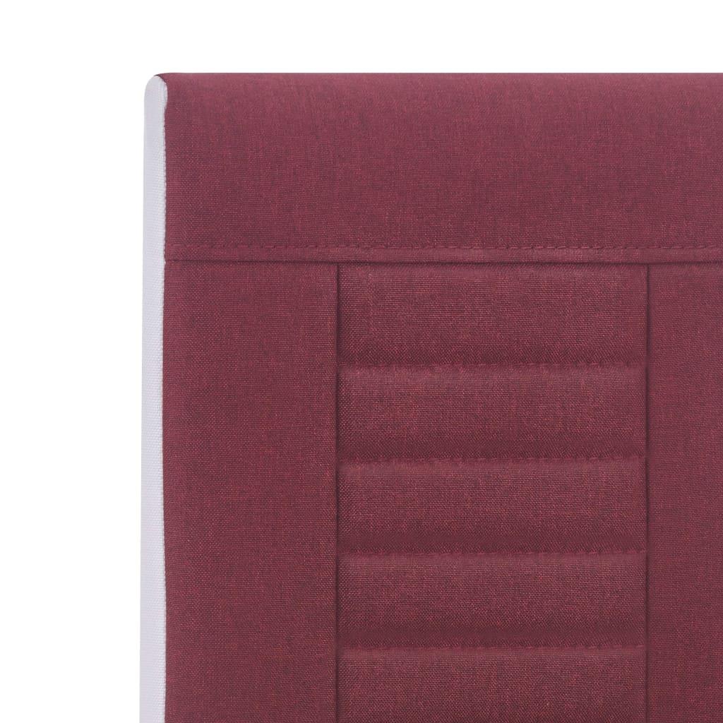 Scaune de bucătărie consolă, 4 buc., roșu vin, textil