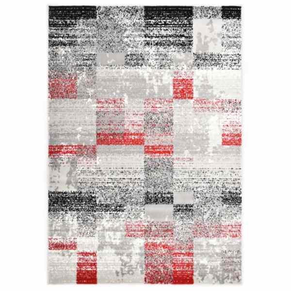 vidaXL Covor, gri și roșu, 80 x 150 cm, PP