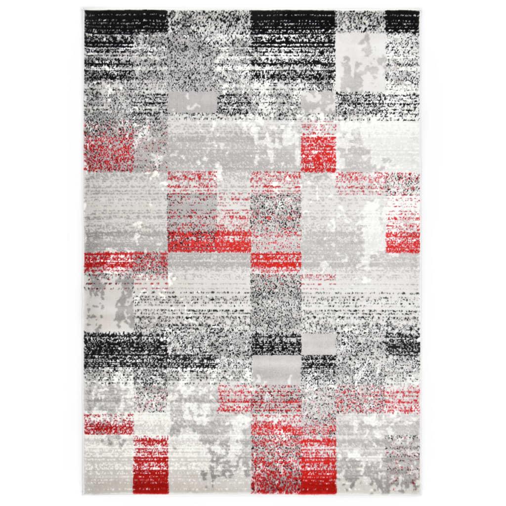 vidaXL Covor, gri și roșu, 160 x 230 cm, PP