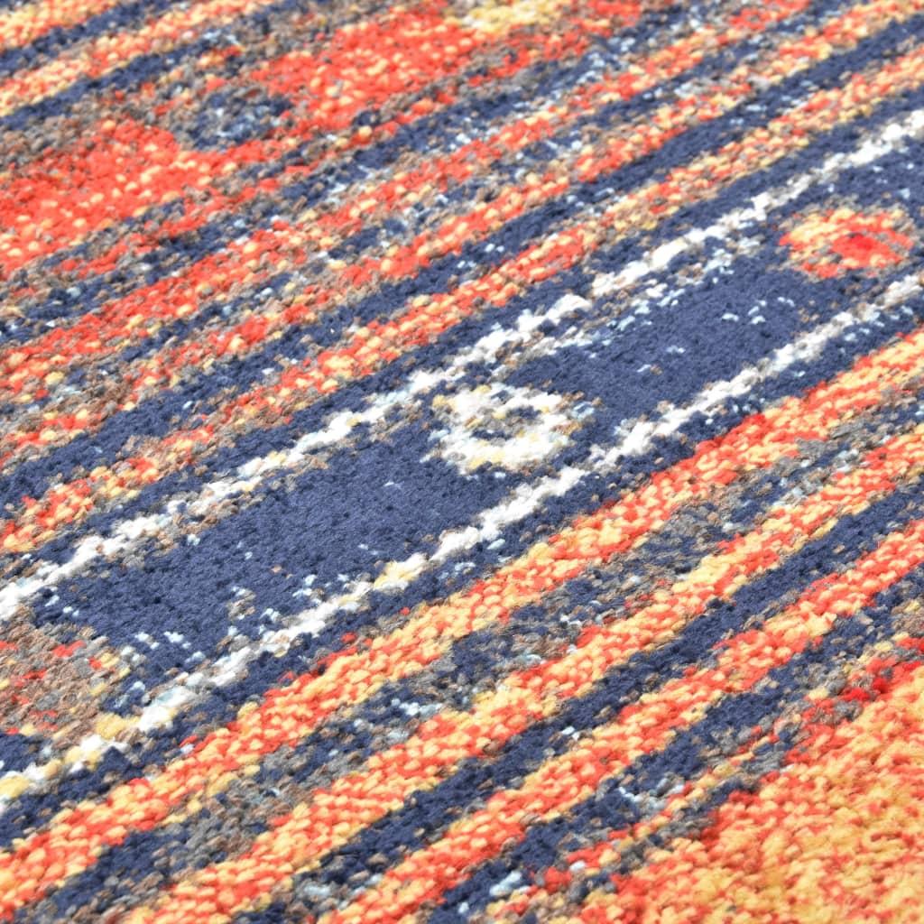vidaXL Covor, albastru și portocaliu, 120 x 170 cm, PP