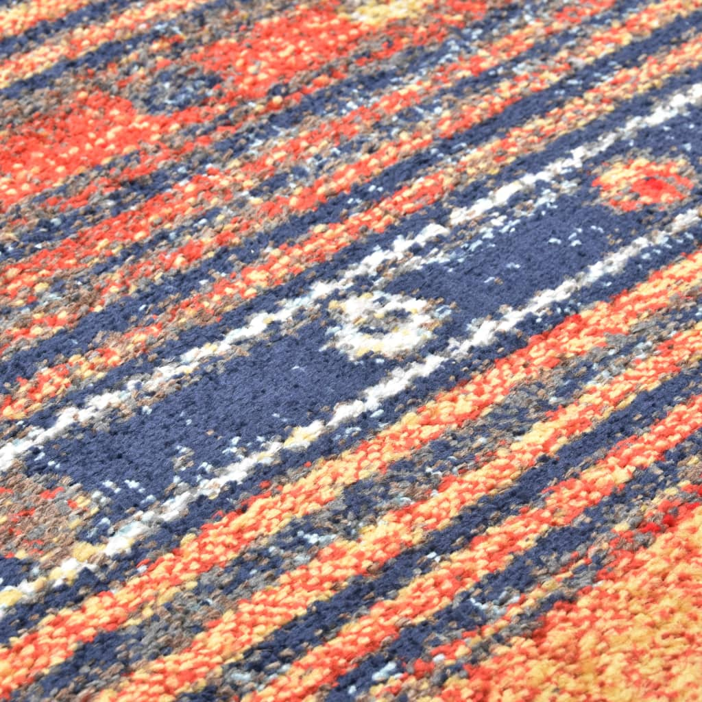 Covor, albastru și portocaliu, 140 x 200 cm, PP