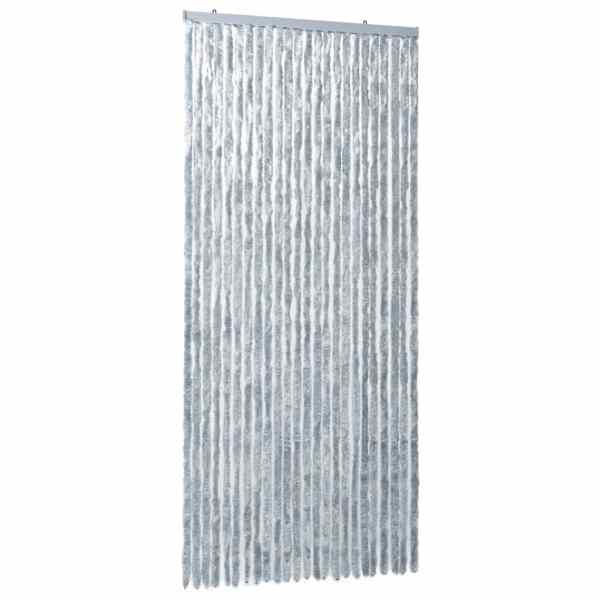 vidaXL Perdea pentru insecte, alb și gri, 100×220 cm, Chenille