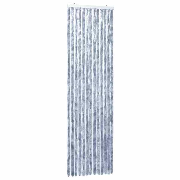 vidaXL Perdea pentru insecte, argintiu, 56×185 cm, Chenille