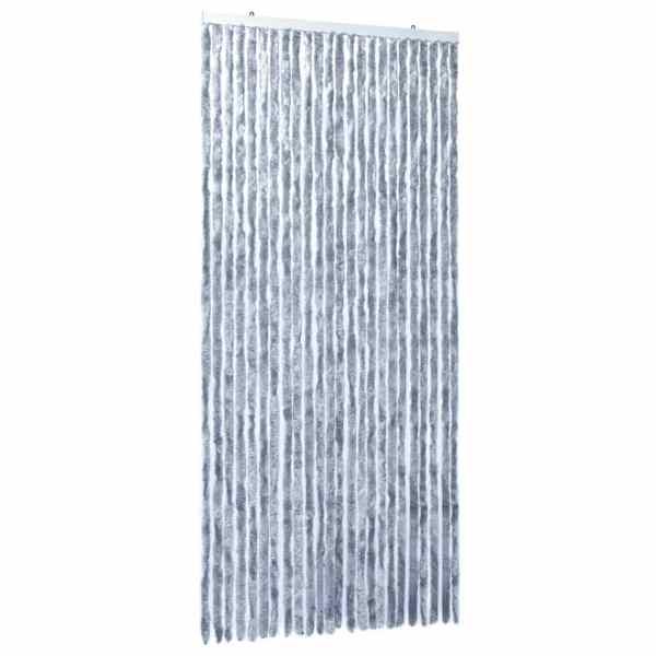 vidaXL Perdea pentru insecte, argintiu, 100×220 cm, Chenille