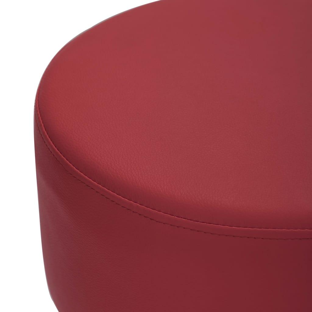 vidaXL Scaun de bar, roșu vin, piele ecologică