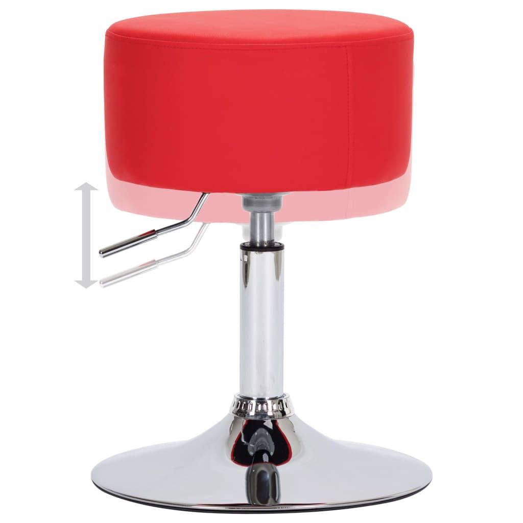 Scaune de bar, 2 buc., roșu, piele ecologică