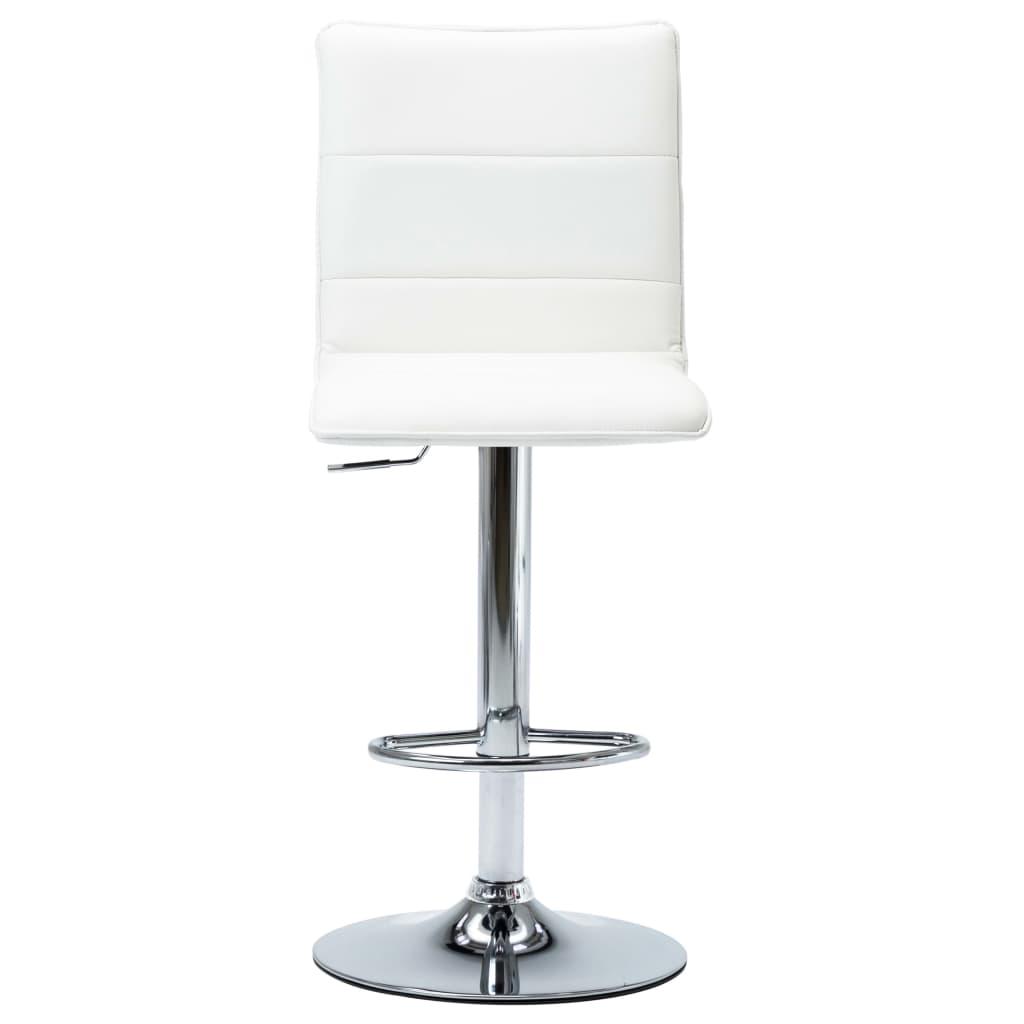 vidaXL Scaun de bar, alb, piele ecologică