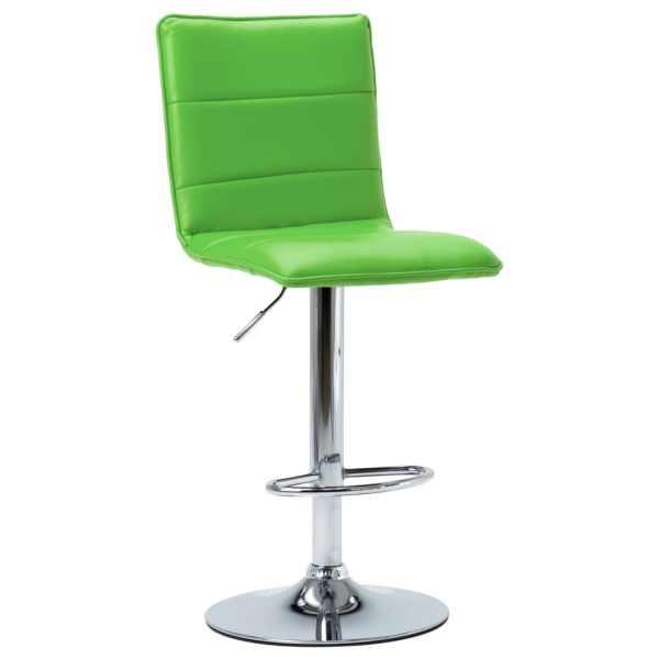 vidaXL Scaun de bar, verde, piele ecologică