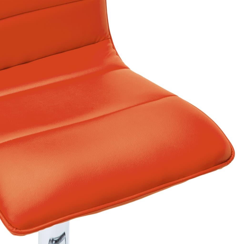 vidaXL Scaune de bar, 2 buc., portocaliu, piele artificială