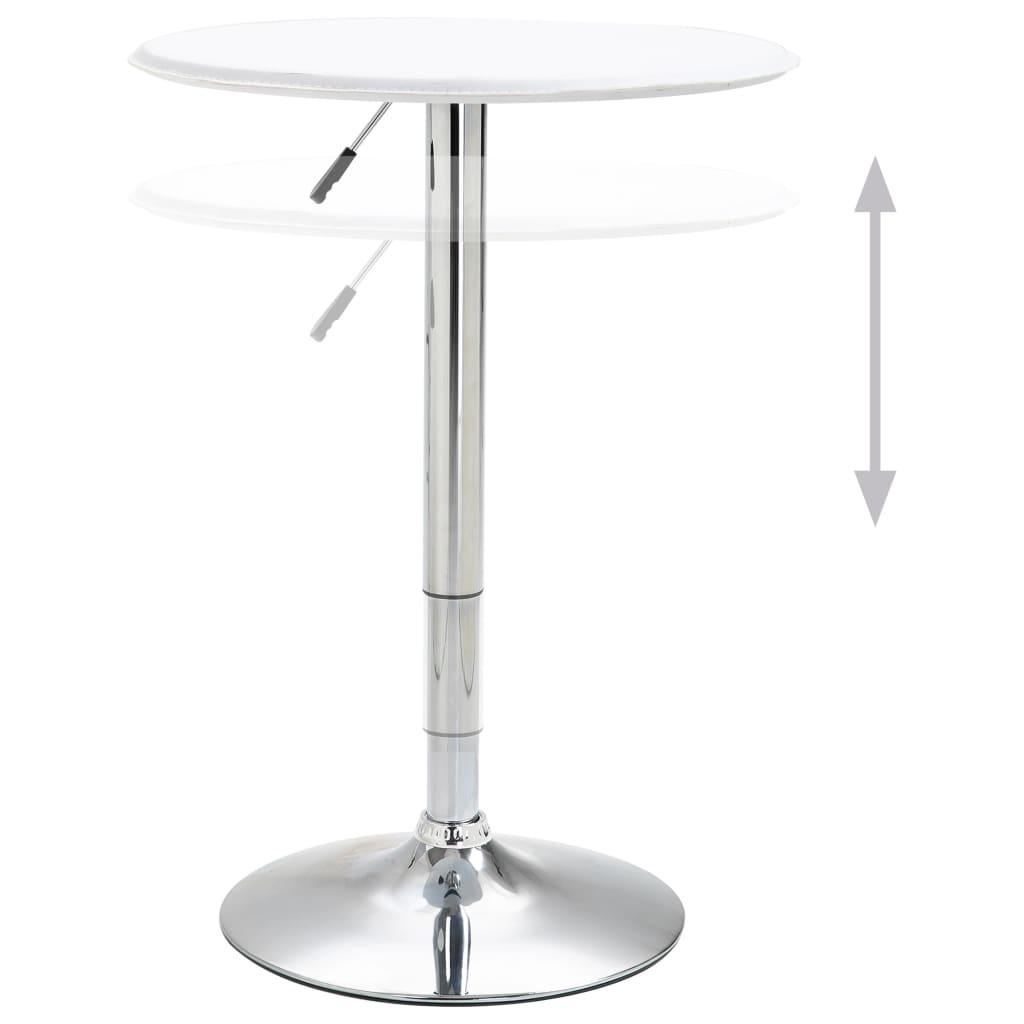 Masă de bar, alb, Ø60 cm, MDF