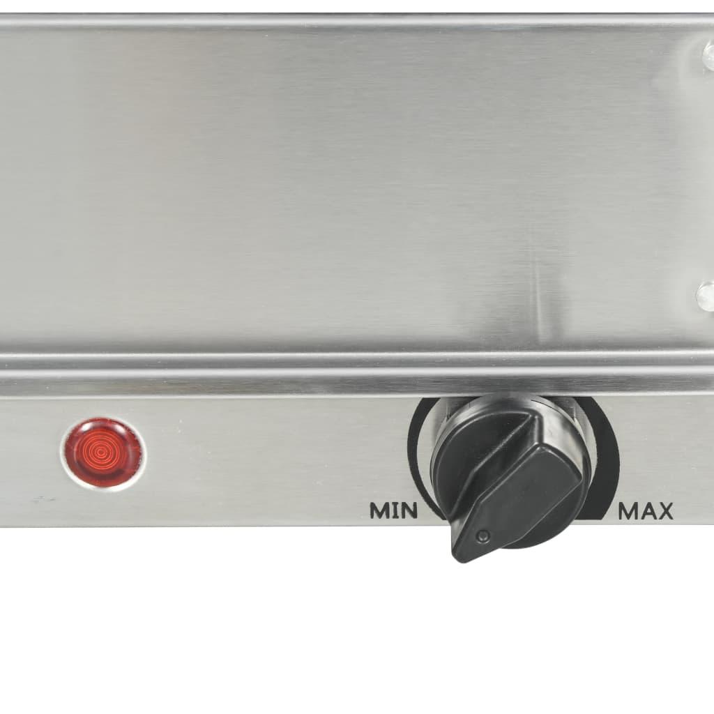 Încălzitor de servire bufet, 300 W, 3 X 2,5 L, oțel inoxidabil
