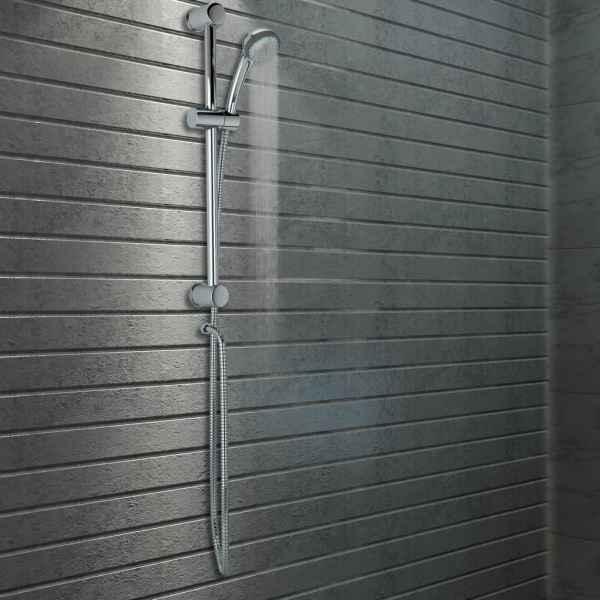 vidaXL Set bară de duș cu duș de mână, metal